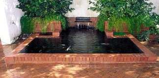 Formal brick Pond