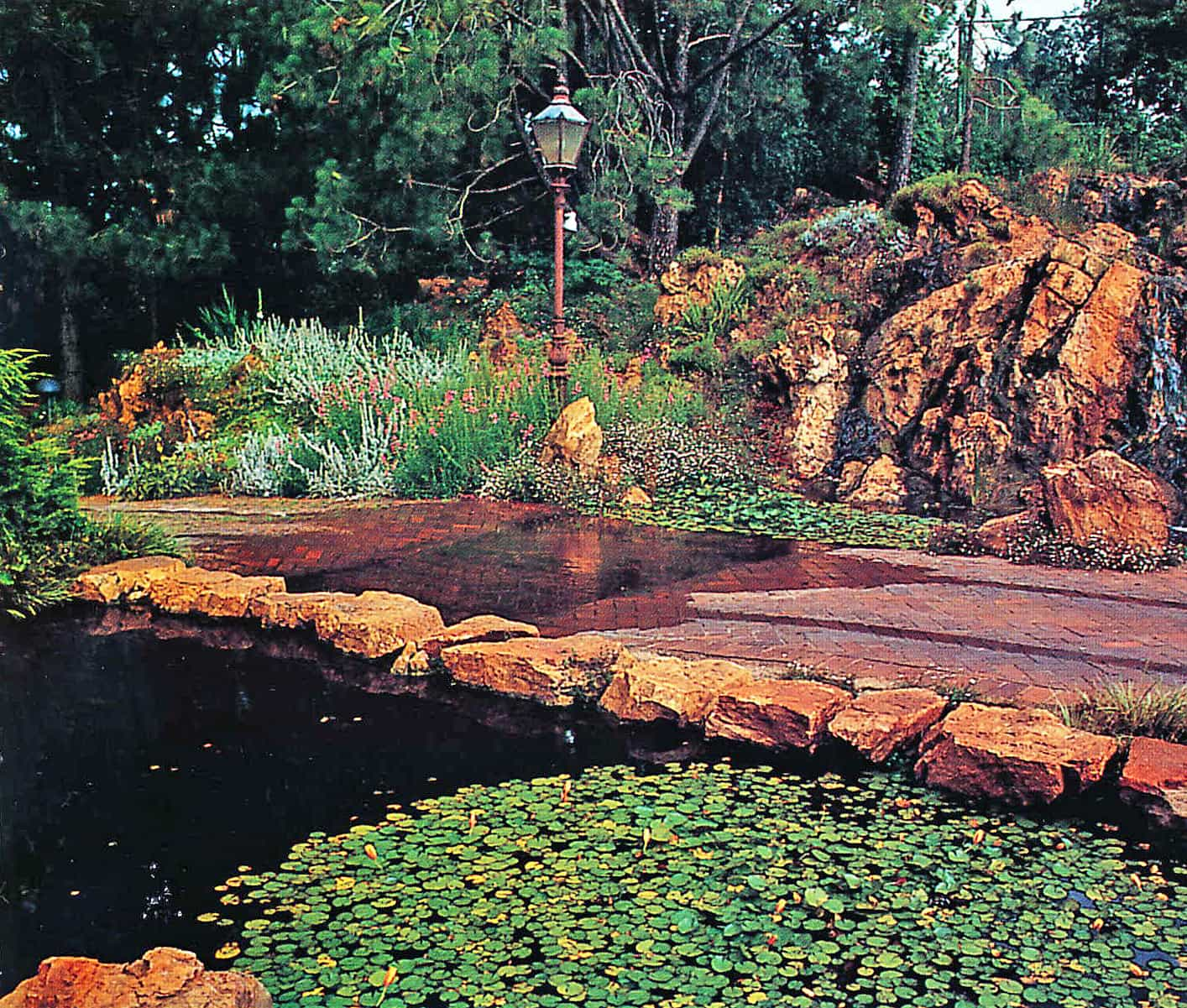 An unusual water feature across a driveway