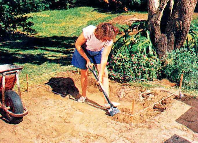 Dig out the soil