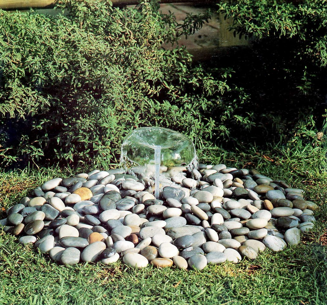 simple pebble water fountain