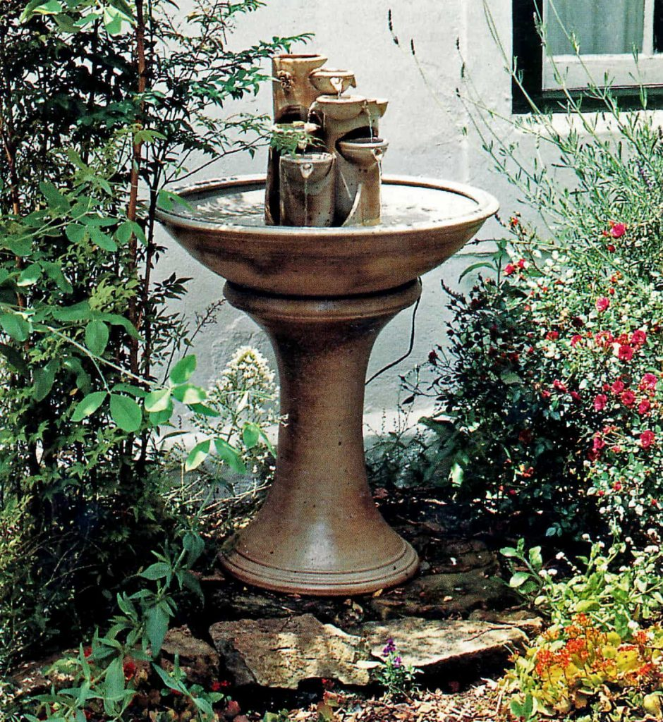 handmade water feature