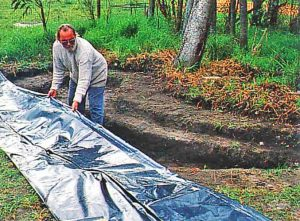 11 duckpond sheeting 300x221 - How to Build a Small Duck Pond